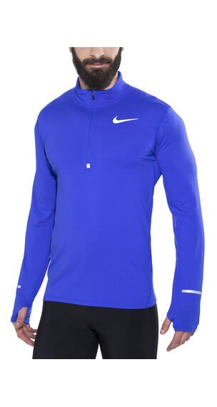 Nike Dri-Fit Element Hardloopshirt lange mouwen Heren blauw